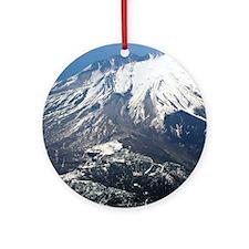 Mt. Saint Helens Round Ornament