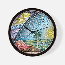 Celestial mechanics, medieval artwork Wall Clock