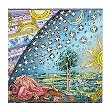 Celestial mechanics, medieval artwork Tile Coaster