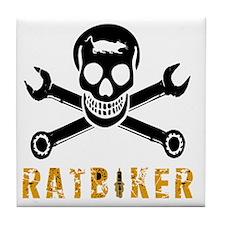 Skull Ratbiker Tile Coaster