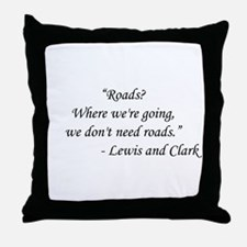 Back To The Future - Lewis and Clark Throw Pillow