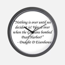 Animal House - Dwight D Eisenhower Wall Clock