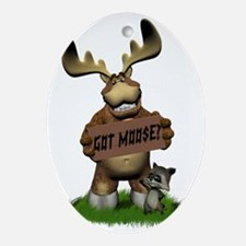 Got Moose 2 Oval Ornament