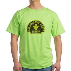 San Bernardino Sheriff Green T-Shirt