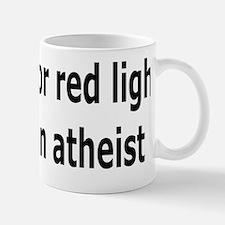 Red Lights Atheist black Mug