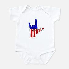 I Love USA Sign Language hand Infant Bodysuit