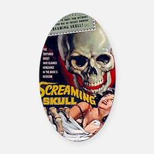 screaming skull Oval Car Magnet