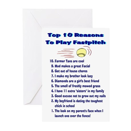 Fastpitch Top 10 Greeting Cards (Pk of 10)