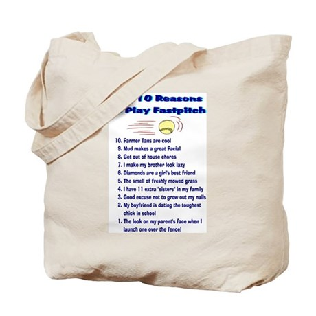 Fastpitch Top 10 Tote Bag
