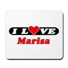 I Love Marisa Mousepad