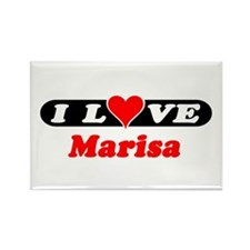 I Love Marisa Rectangle Magnet