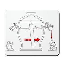 Chinese earthquake detector, artwork Mousepad