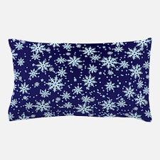 Midnight Snowflakes Tray Pillow Case