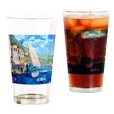 Aegean harbor calendar Drinking Glass