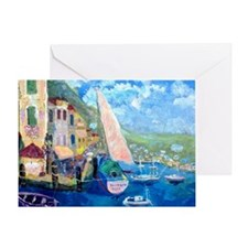 Aegean harbor calendar Greeting Card