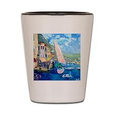 Aegean harbor calendar Shot Glass