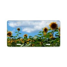 Flower Towers Aluminum License Plate
