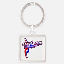 Lucas Oil Racing Square Keychain