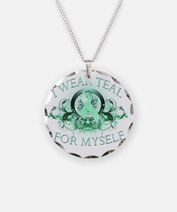 I Wear Teal for Myself Necklace Circle Charm