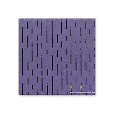"Purple Lines Square Sticker 3"" x 3"""