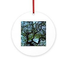 Reaching Tree Round Ornament