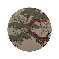 """Japanese Bonsai Pine 3.5"""" Button"""