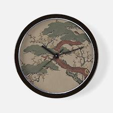 Japanese Bonsai Pine Wall Clock