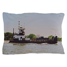 Tugboat With Barge Carrying A Pickup T Pillow Case