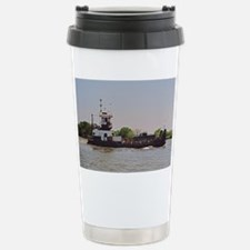 Tugboat With Barge Carr Stainless Steel Travel Mug