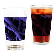 Purple Strands Drinking Glass
