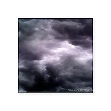 "Purple Storm Clouds Square Sticker 3"" x 3"""