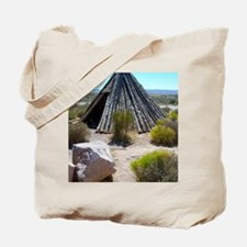 Wooden Teepee Tote Bag