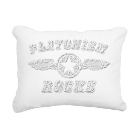 PLATONISM ROCKS Rectangular Canvas Pillow