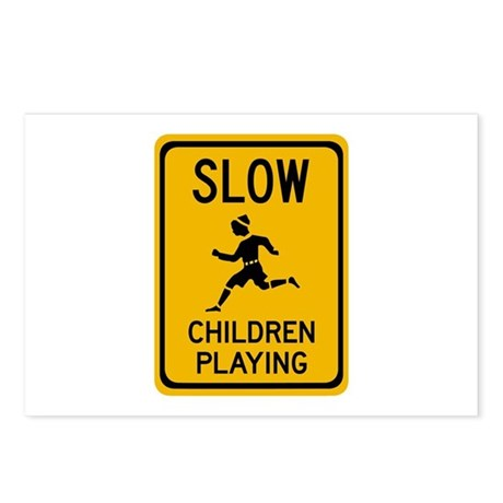 Slow, Children Playing - USA Postcards (Package of
