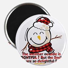 Snow Man Smiley Magnet