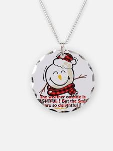 Snow Man Smiley Necklace