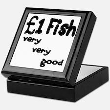 one pound fish Keepsake Box
