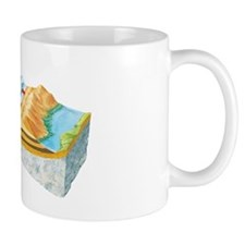 Coastal wave mechanics, artwork Mug