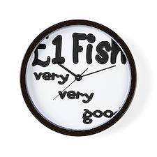 one pound fish Wall Clock