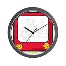 Etch a nice day Smiley Wall Clock