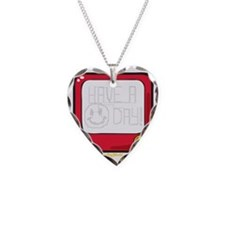 Etch a nice day Smiley Necklace