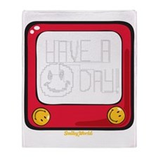 Etch a nice day Smiley Throw Blanket