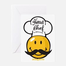 Head Chef Smiley Greeting Card