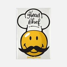 Head Chef Smiley Rectangle Magnet