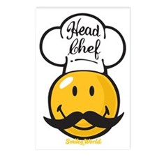 Head Chef Smiley Postcards (Package of 8)
