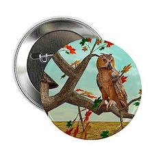 """Autumn Owl 2.25"""" Button"""