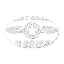 POINT ARENA ROCKS Oval Car Magnet