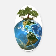 Protect Our Nature Oval Car Magnet