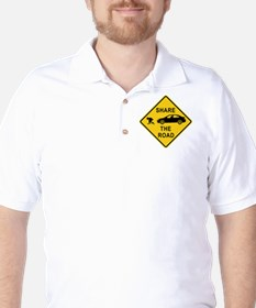share the road sign Golf Shirt