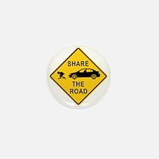 share the road sign Mini Button